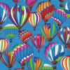 hot air balloons dog bandana - reverse side paw prints