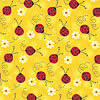 pet bandanas reversible - yellow bandana with lady bugs